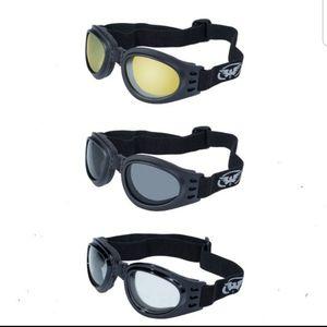 3 Burning Man Motorcycle Goggles Reno Nevada Moped